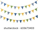 Bunting party flags made from...