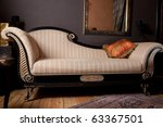 Beautiful and rich couch - stock photo