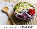 acai bowl with fruit | Shutterstock . vector #633675386