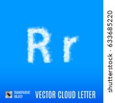 clouds in shape of the letter r ... | Shutterstock .eps vector #633685220