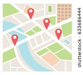 street maps and directions | Shutterstock .eps vector #633686444