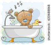 cute cartoon teddy bear in the...   Shutterstock .eps vector #633688868
