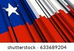 fragment flag of chile. 3d... | Shutterstock . vector #633689204