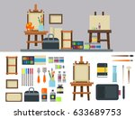 painting art tools palette icon ...   Shutterstock .eps vector #633689753