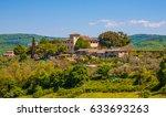beautiful tuscany landscape ... | Shutterstock . vector #633693263