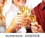 photo of champagne glasses... | Shutterstock . vector #63369328