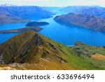 roy's peak  wanaka  new zealand   Shutterstock . vector #633696494