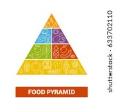vector food pyramid. concept of ... | Shutterstock .eps vector #633702110