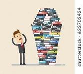 businessman or employee work...   Shutterstock .eps vector #633703424
