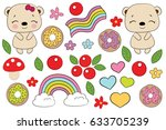 children's illustration with a... | Shutterstock .eps vector #633705239