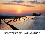 photovoltaic panels of solar... | Shutterstock . vector #633708056