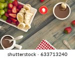 fondue melted chocolate | Shutterstock . vector #633713240
