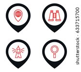 search icon. set of 4 search...