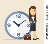 business woman  manager or... | Shutterstock .eps vector #633716183