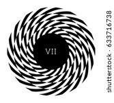 circular spiral element.... | Shutterstock .eps vector #633716738
