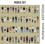 diversity people set gesture... | Shutterstock . vector #633720266