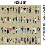 diversity people set gesture... | Shutterstock . vector #633720266