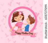 beautiful illustration of... | Shutterstock .eps vector #633727094