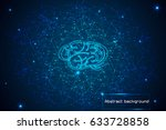 abstract technology concept... | Shutterstock .eps vector #633728858