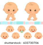 baby emotions | Shutterstock .eps vector #633730706