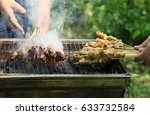 outdoor barbecue | Shutterstock . vector #633732584