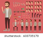 creation set of handsome young... | Shutterstock .eps vector #633735170