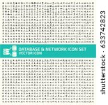 database and network icon set... | Shutterstock .eps vector #633742823