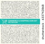 commerce and shopping icon set... | Shutterstock .eps vector #633742868