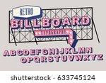 billboard  signboard typography ... | Shutterstock .eps vector #633745124