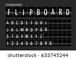 flip board typography vector | Shutterstock .eps vector #633745244