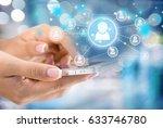mobile phone. | Shutterstock . vector #633746780