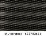 metal grid texture with... | Shutterstock . vector #633753686