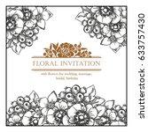 vintage delicate invitation... | Shutterstock . vector #633757430