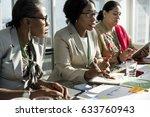 diversity people talk... | Shutterstock . vector #633760943