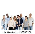 group of diversity people... | Shutterstock . vector #633760958