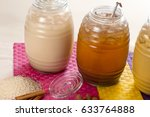 natural flavored beverages. | Shutterstock . vector #633764888