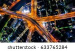 highway night background | Shutterstock . vector #633765284