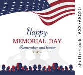 happy memorial day. greeting... | Shutterstock .eps vector #633768020