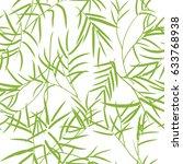 seamless bamboo leaves pattern. | Shutterstock .eps vector #633768938