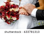 Hands Ohands Of Newlyweds With...