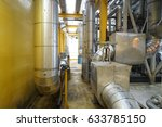 insulation for pipe heating in... | Shutterstock . vector #633785150