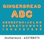 gingerbread abc. christmas... | Shutterstock . vector #633788474