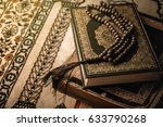 prayer beads on koran   holy... | Shutterstock . vector #633790268