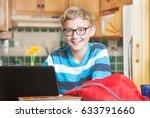 cute single smiling boy in...   Shutterstock . vector #633791660