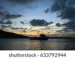 beautiful sunset on the sea | Shutterstock . vector #633792944
