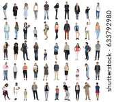 diversity people together mixed ... | Shutterstock . vector #633792980