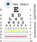 eye chart | Shutterstock . vector #633793709