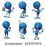 vector set of cartoon images of ...   Shutterstock .eps vector #633797474