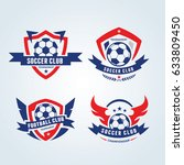 football logo set    Shutterstock .eps vector #633809450