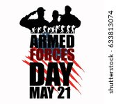 armed forces day template... | Shutterstock .eps vector #633813074